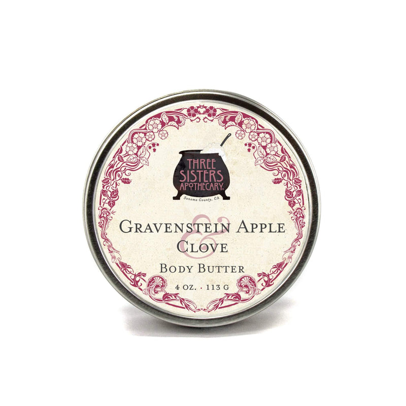 Three Sisters Apothecary Body Butter Gravenstein Apple Clove 4oz - The Scarlet Sage Herb Co.