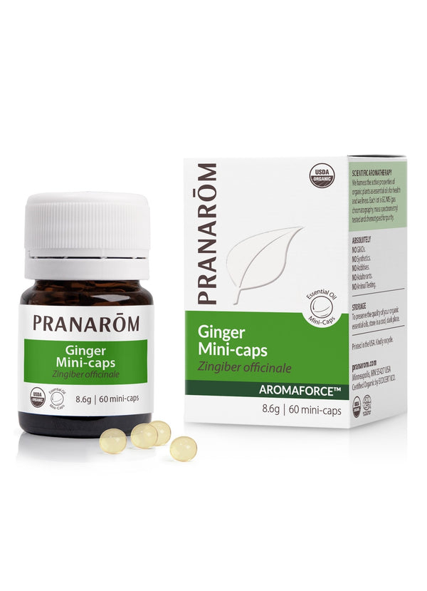Pranarom Mini Caps Ginger 60ct-The Scarlet Sage Herb Co.