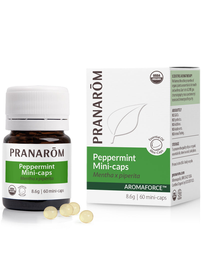 Pranarom Mini Caps Peppermint 60ct-The Scarlet Sage Herb Co.