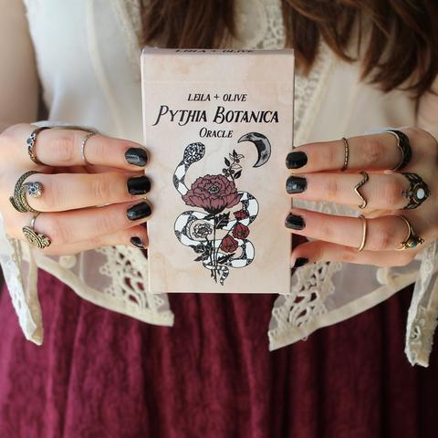 Pythia Botanica Oracle Deck by Leila + Olive - The Scarlet Sage Herb Co.