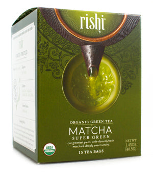 Rishi Tea Matcha Super Green-Teas-The Scarlet Sage Herb Co.