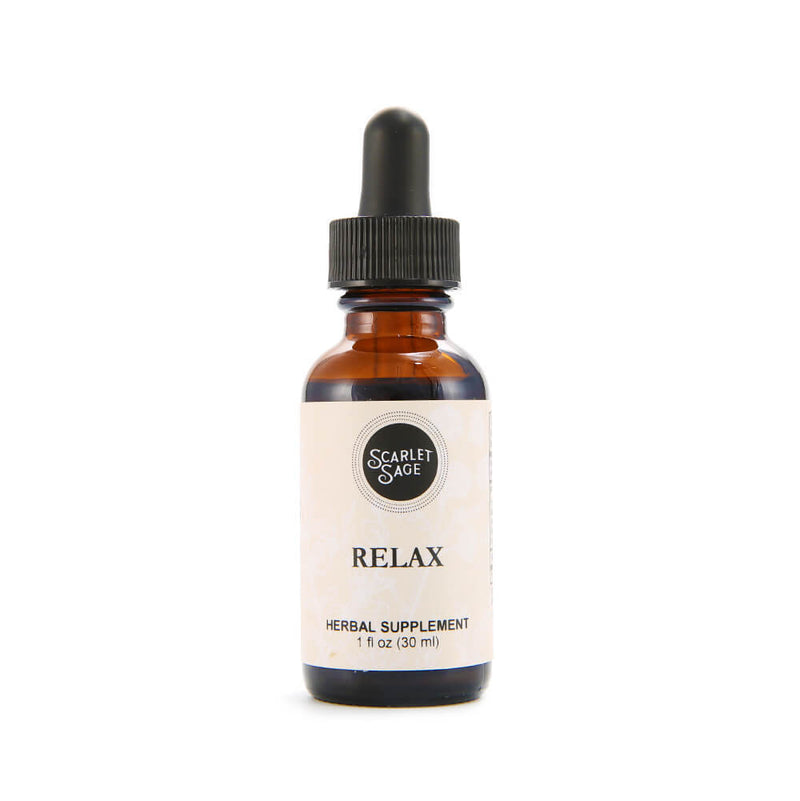 Scarlet Sage Relax 1oz Tincture - The Scarlet Sage Herb Co.