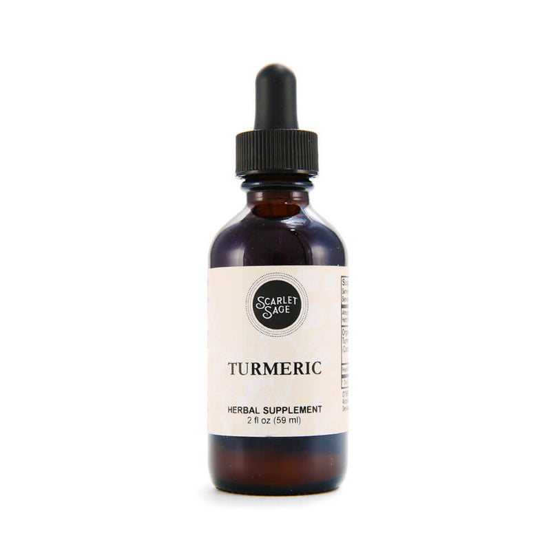 Scarlet Sage Turmeric 2oz Tincture - The Scarlet Sage Herb Co.
