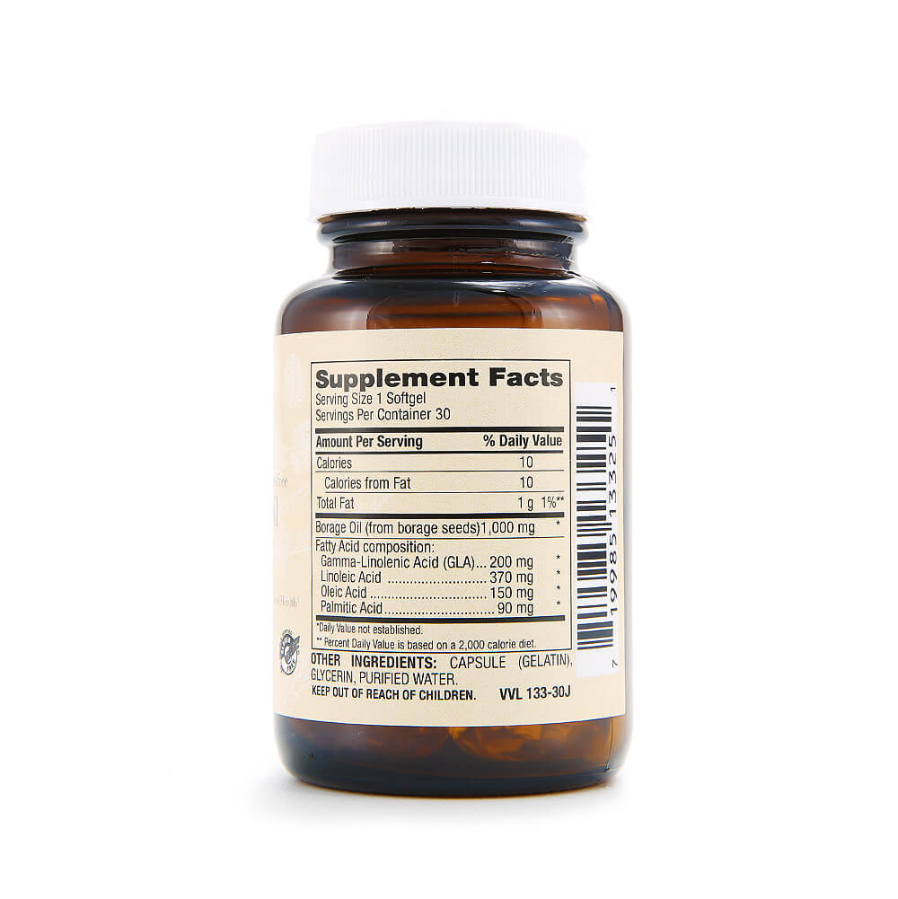 Scarlet Sage Borage Oil 1000mg - The Scarlet Sage Herb Co.