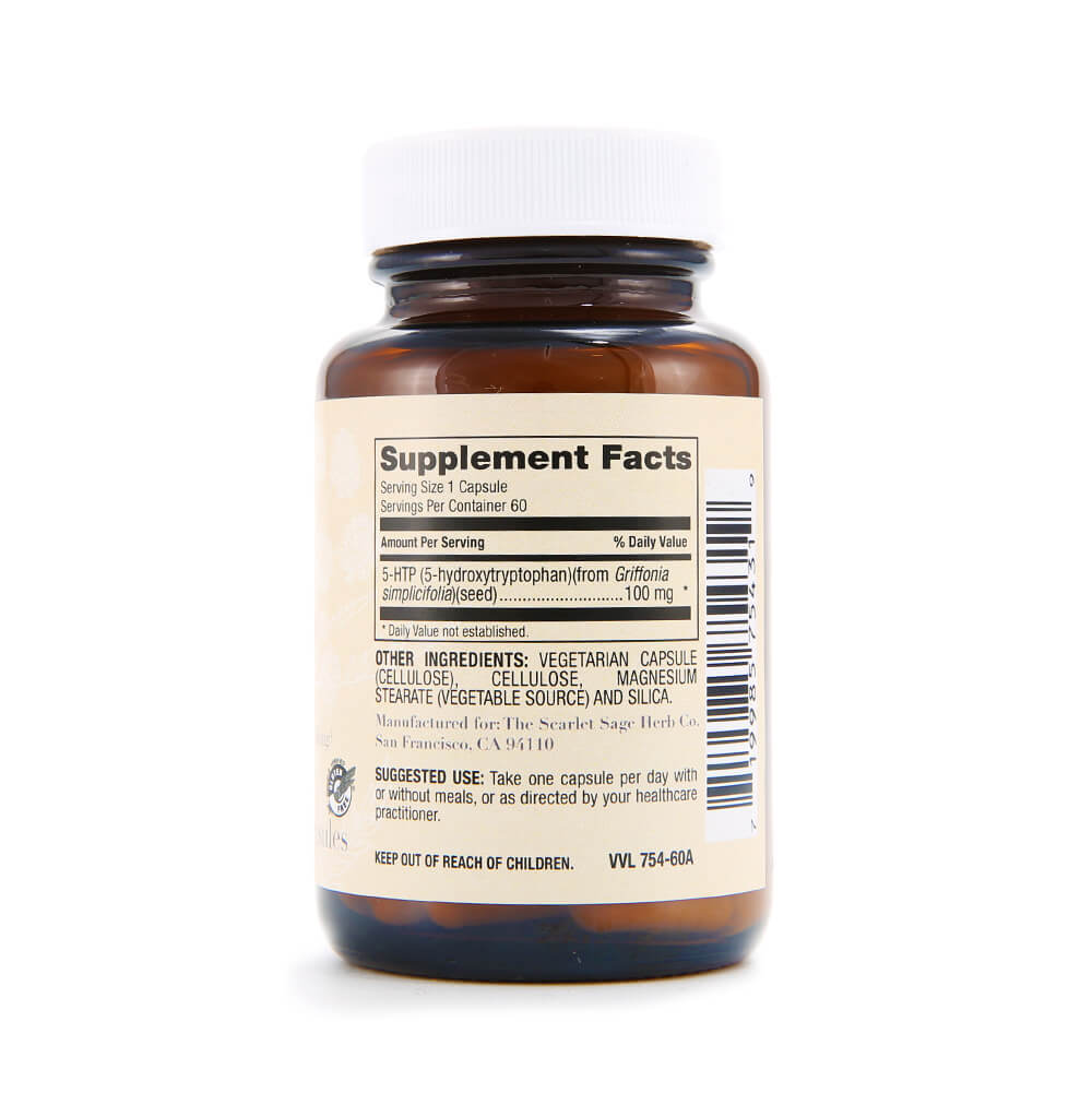 Scarlet Sage 5-HTP 100mg 60ct - The Scarlet Sage Herb Co.