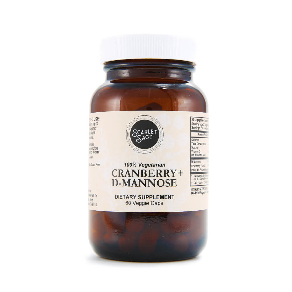 Scarlet Sage Cranberry D-Mannose 60ct - The Scarlet Sage Herb Co.