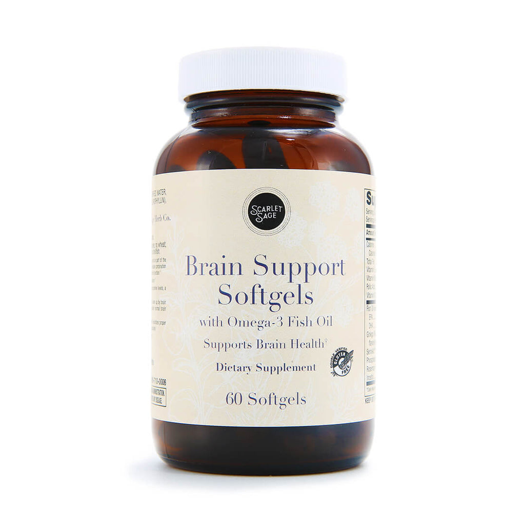 Scarlet Sage Brain Support Softgels 60ct - The Scarlet Sage Herb Co.