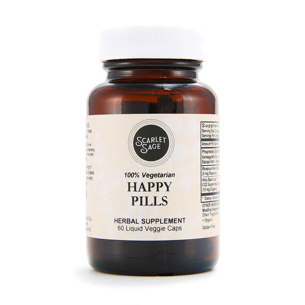 Scarlet Sage Happy Pills 60ct - The Scarlet Sage Herb Co.