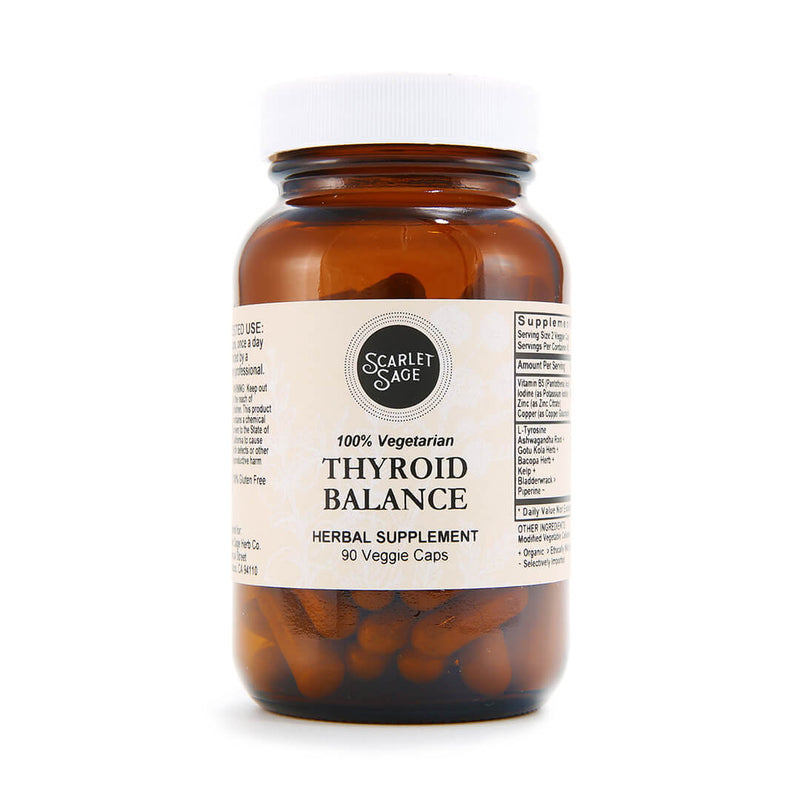 Scarlet Sage Thyroid Balance 90ct - The Scarlet Sage Herb Co.