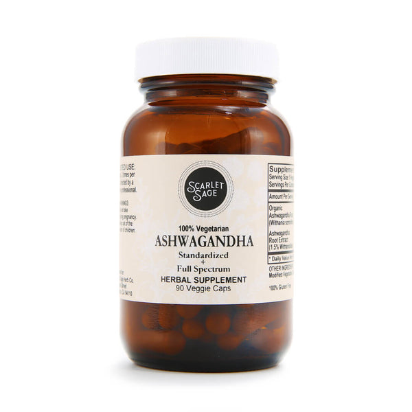 Scarlet Sage Ashwagandha 90ct - The Scarlet Sage Herb Co.
