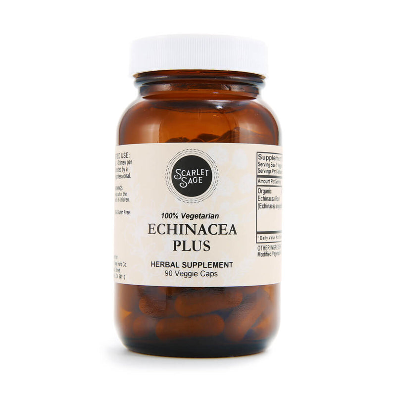 Scarlet Sage Echinacea Plus 90ct - The Scarlet Sage Herb Co.
