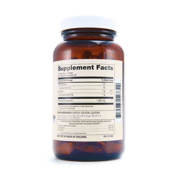 Scarlet Sage Evening Primrose 1300mg - The Scarlet Sage Herb Co.