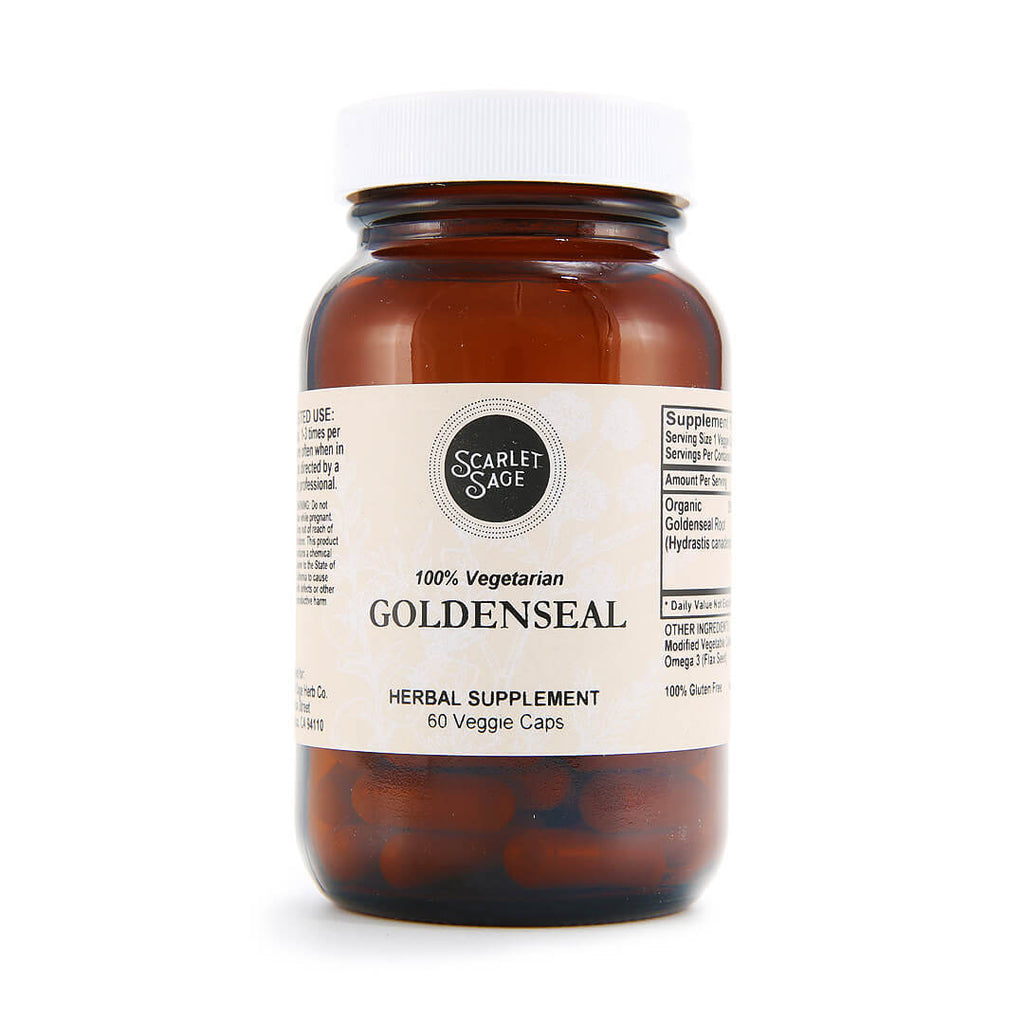 Scarlet Sage Goldenseal 60ct - The Scarlet Sage Herb Co.