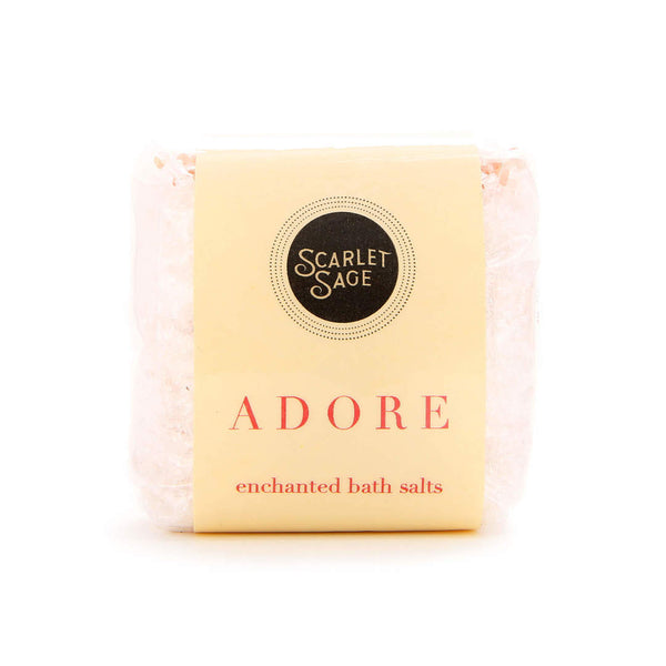 Adore Enchanted Bath Salts - The Scarlet Sage Herb Co.