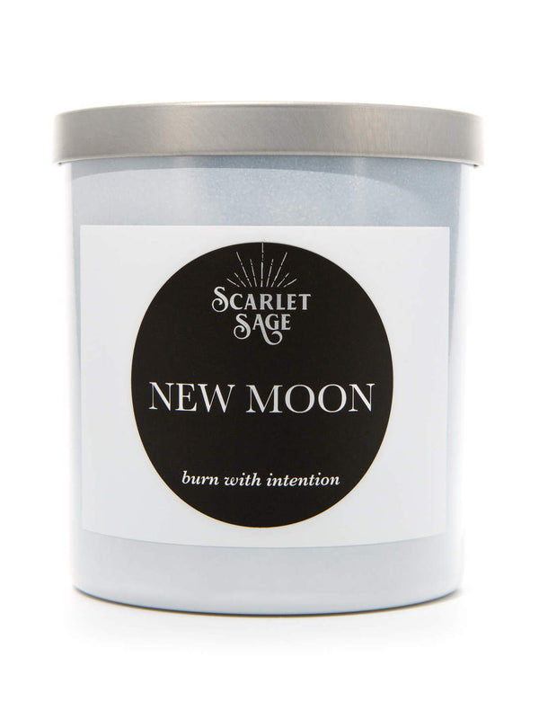 Scarlet Sage Candle - New Moon - The Scarlet Sage Herb Co.