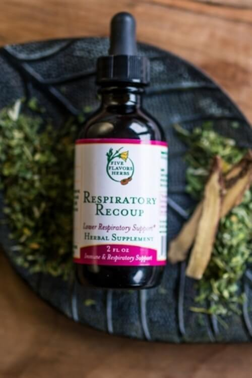 Five Flavors Herbs Respiratory Recoup 2oz - The Scarlet Sage Herb Co.