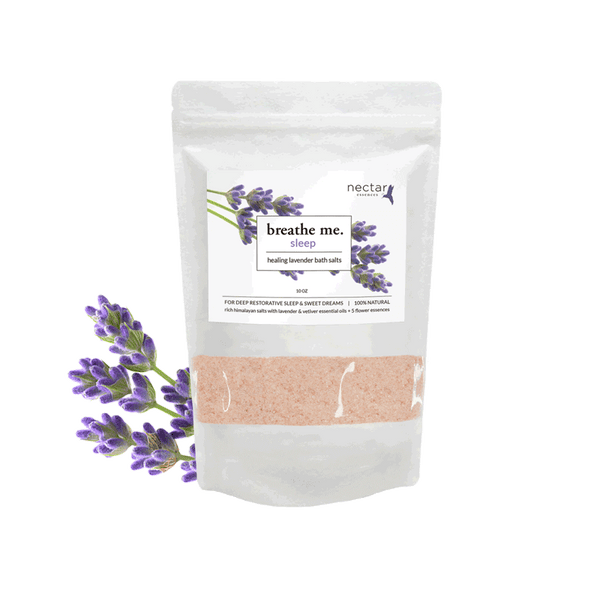Nectar Essences Sleep Bath Salts 10oz - The Scarlet Sage Herb Co.