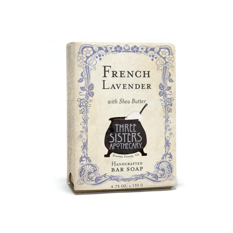 Three Sisters Apothecary Bar Soap French Lavender - The Scarlet Sage Herb Co.