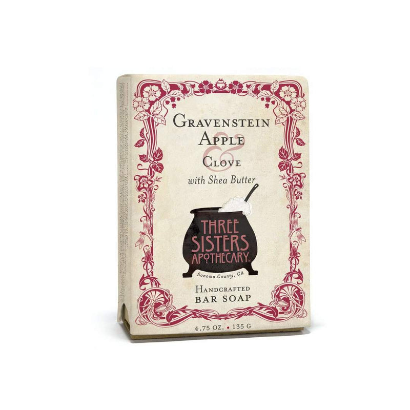 Three Sisters Apothecary Bar Soap Gravenstein Apple & Clove 4.75oz-The Scarlet Sage Herb Co.