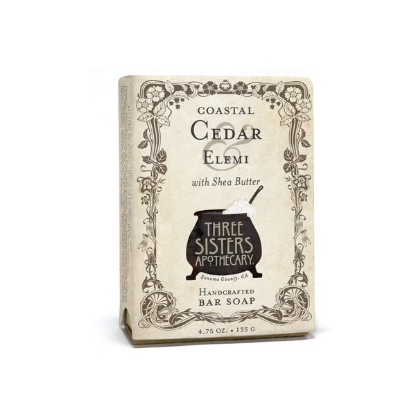 Three Sisters Apothecary Bar Soap Coastal Cedar Elemi-Bodycare-The Scarlet Sage Herb Co.