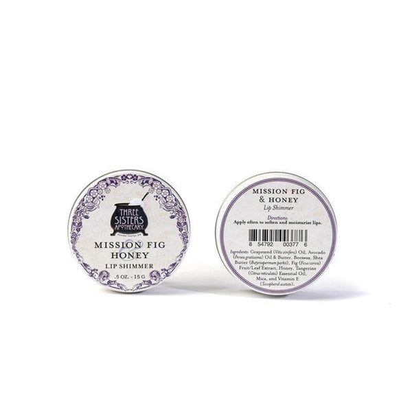 Three Sisters Apothecary Lip Shimmer Mission Fig Honey .5 Oz - The Scarlet Sage Herb Co.