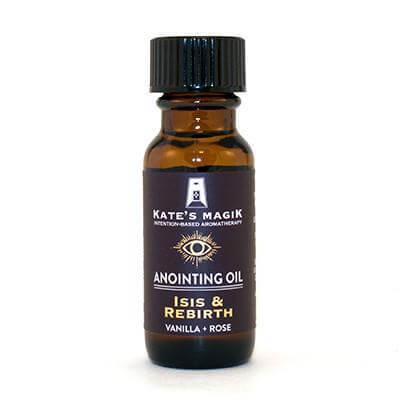Kate's Magik Anointing Oil Isis & Rebirth .5oz - The Scarlet Sage Herb Co.