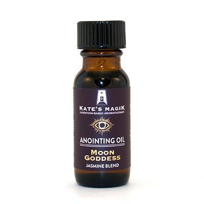 Kate's Magik Anointing Oil Moon Goddess .5oz - The Scarlet Sage Herb Co.