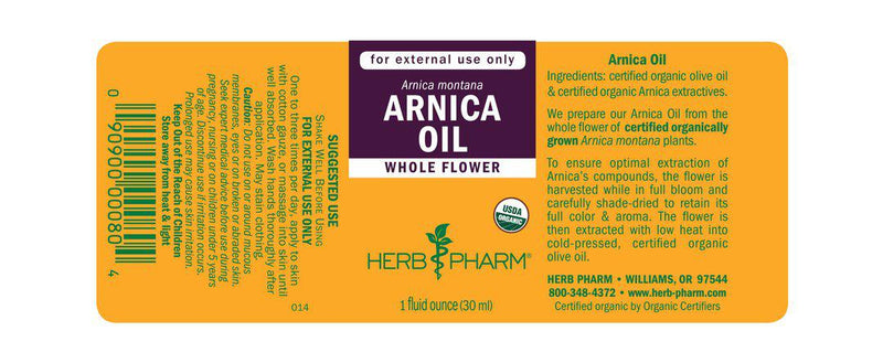 Herb Pharm Oil Arnica 1oz-Tinctures-The Scarlet Sage Herb Co.
