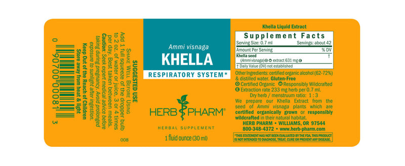 Herb Pharm Khella 1oz-Tinctures-The Scarlet Sage Herb Co.