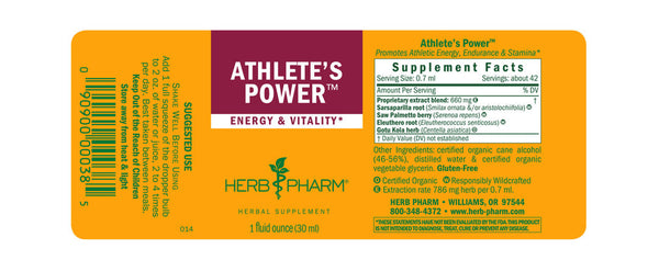 Herb Pharm Athlete's Power 1oz-Tinctures-The Scarlet Sage Herb Co.