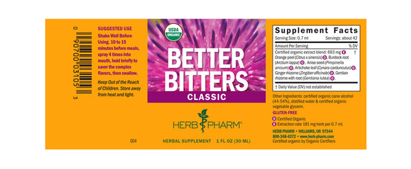 Herb Pharm Better Bitters Classic