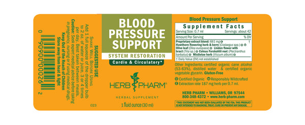 Herb Pharm Blood Pressure Support 1oz-Tinctures-The Scarlet Sage Herb Co.