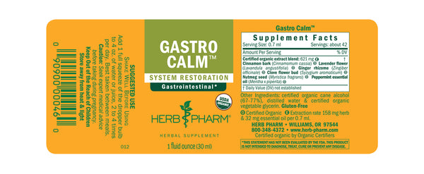 Herb Pharm Gastro Calm 1oz-Tinctures-The Scarlet Sage Herb Co.