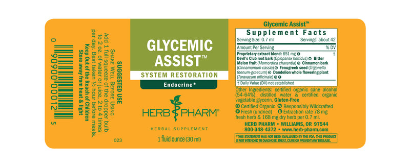 Herb Pharm Glycemic Assist 1oz-Tinctures-The Scarlet Sage Herb Co.