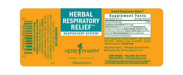 Herb Pharm Herbal Respiratory Relief 1oz