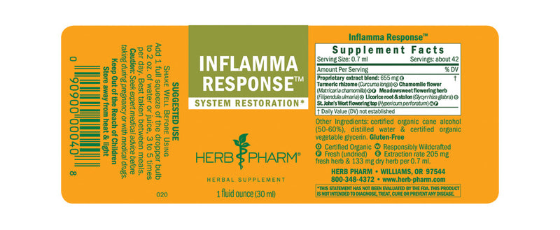 Herb Pharm Inflamma Response 1oz-Tinctures-The Scarlet Sage Herb Co.