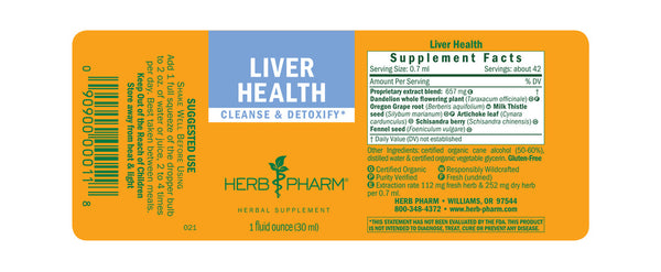 Herb Pharm Liver Health 1oz-Tinctures-The Scarlet Sage Herb Co.
