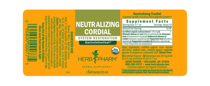 Herb Pharm Neutralizing Cordial 1oz