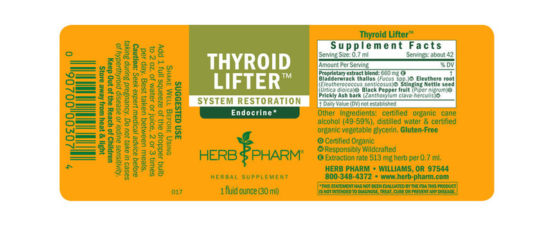 Herb Pharm Thyroid Lifter 1oz-Tinctures-The Scarlet Sage Herb Co.