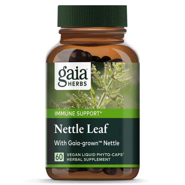 Gaia Herbs Nettle Leaf 60ct-Supplements-The Scarlet Sage Herb Co.