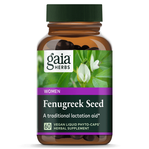 Gaia Herbs Fenugreek Seed 60ct-Supplements-The Scarlet Sage Herb Co.