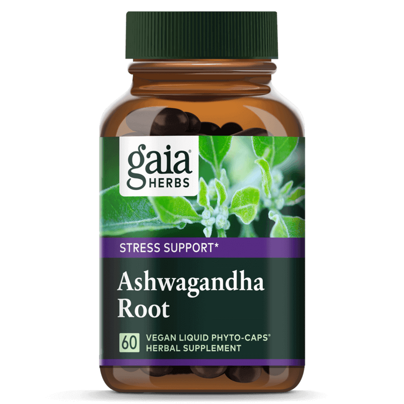 Gaia Herbs Ashwaganda Root 60ct-Supplements-The Scarlet Sage Herb Co.