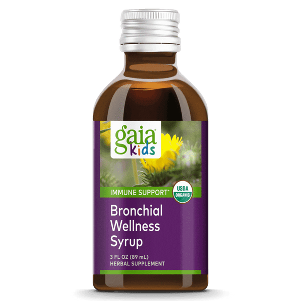 Gaia Herbs Kids Bronchial Wellness 3oz-Tinctures, Supplements-The Scarlet Sage Herb Co.
