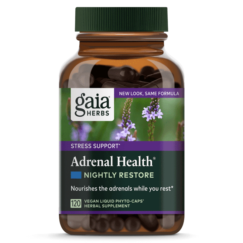 Gaia Herbs Adrenal Health Nightly Restore-Supplements-The Scarlet Sage Herb Co.