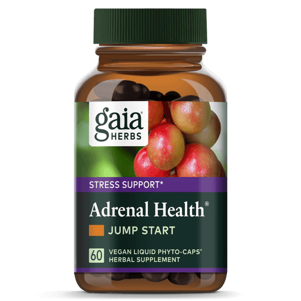 Gaia Herbs Adrenal Health Jump Start 60ct-Supplements-The Scarlet Sage Herb Co.