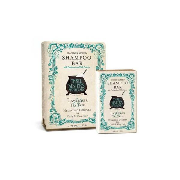 Three Sisters Apothecary Shampoo Bar Lavender Tea Tree 1.75oz