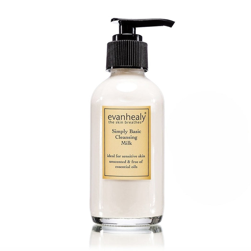 evanhealy Cleansing Milk Simply Basic 4oz-Facial Skincare-The Scarlet Sage Herb Co.
