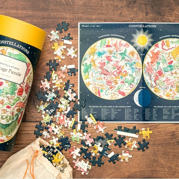 Cavallini Constellations Puzzle-Home Decor-The Scarlet Sage Herb Co.