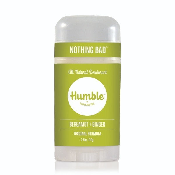 Humble Deodorant Sensitive Bergamot Ginger 2.5oz-Bodycare-The Scarlet Sage Herb Co.