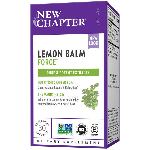 New Chapter Lemon Balm Force 30ct-Supplements-The Scarlet Sage Herb Co.
